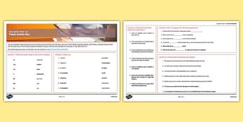 Education Post 16 French Activity Mat - french, Education, Éducation, Studies, Études, College, Lycée, Baccalauréat, A levels, Exams, Examens, University, Université, Apprenticeship, Apprentissage, vocabulaire, révision, revision, learning mat