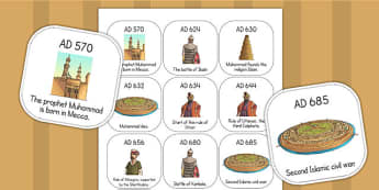 Early Islamic Civilization Timeline Ordering Activity - order
