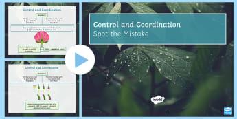 Spot the Mistake: Plant Hormones PowerPoint - Auxin, Hormone, Growth, Root, Shoot, Plants