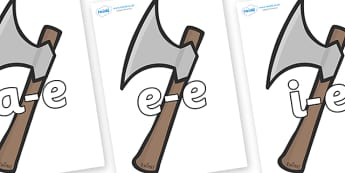 Modifying E Letters on Axes - Modifying E, letters, modify, Phase 5, Phase five, alternative spellings for phonemes, DfES letters and Sounds