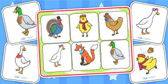 Chicken Licken Matching Mat SEN - stories, books, SEN mat, match