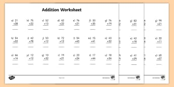 addition and subtraction addition with regrouping primary resourc twodigit addition worksheet