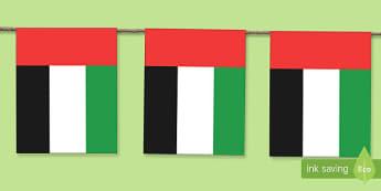 UAE Flag  Display Bunting