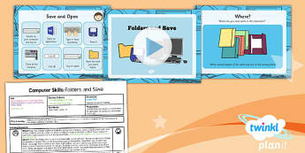 Computing: Computer Skills: Folders and Save Year 1 Lesson Pack 4