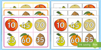 Number Bonds to 100 Multiples of 10 and 5 Bingo  - Number Bonds to 100 Bingo - number bonds, 100, bingo, game, activity,number bondd, numberbonds, numb