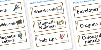 Giraffe Themed Editable Writing Area Resource Labels - Themed writing resource labels, literacy area labels, writing area resources, Label template, Resource Label, Name Labels, Editable Labels, Drawer Labels, KS1 Labels, Foundation Labels, Foundatio