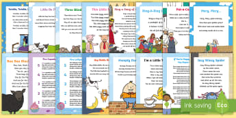 Nursery Rhymes Activity Pack - NZ Literacy Resources, Year 1-3, nursery rhymes, New Zealand, activity, activities, reading