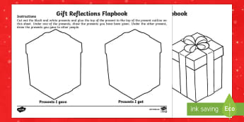 KS1 My Christmas Present Reflections Flapbook - KS1 flap book, my presents, Christmas presents, KS1, new year, resolutions, new term, january