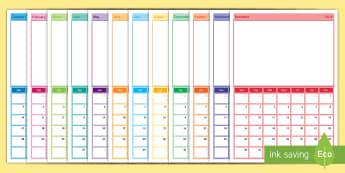 2019 Class Photo Display Calendar - Photograph,, academic year, classroom management, display, our class, group, friendship