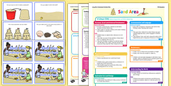 Sand Area Continuous Provision Plan Poster and Challenge Cards Pack Reception FS2