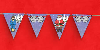 Christmas Train Journey Bunting - christmas train journey, bunting, display