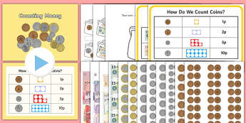 Maths Intervention Counting Money Pack - SEN, special needs, maths, money, counting money, recognising money, adding money, coins, notes