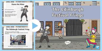 Edinburgh Festival Fringe PowerPoint - Events, Festivals, Edinburgh, Fringe, Scotland, The Arts,Scottish
