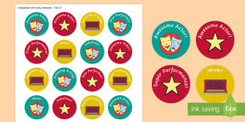 Drama Reward Stickers - ROI Drama, performing, performance, acting, actor, actress, star, play, theatre, show, stickers, par