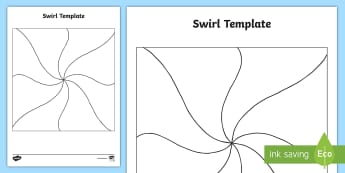 KS1 Swirl Template Activity Sheet - personality swirls, art, design template, all about me, y1 and y2, Worksheet