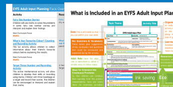 EYFS Records, Using Marks ... Adult Input Planning and Resource Pack Overview - Early Years planning, EYFS, Foundation, Topic plan, counting, explain, interpret, data collection, d