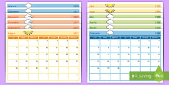 Anul școlar 2017 2018 Calendar cu 12 pagini - an școlar, agedă, planificarea anului, început de an școlar, organizarea învățătorului, 2017