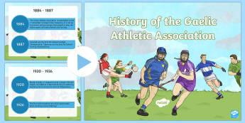 History of the GAA Timeline PowerPoint - History of the GAA Timeline Posters - history, ireland, irish, GAA, Croke Park, gaelic, hurling, tra