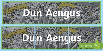 Dun Aengus Banner - ROI - Dún Aonghusa,, bronze age, fort, dun aengus, aran islands, inishmore, galway,Irish