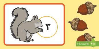 Arabic Translation Arabic / العربية - رياض الأطفال، الخريف، العد، الرياضيات، الحساب، أنشطة