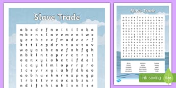 Slave Trade Word Search