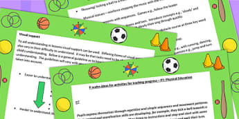 P Scales Ideas for Activities for Tracking Progress P7 PE - PE