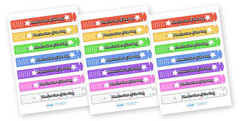 Wristband Awards (Phonics Star of the Day) - wristband, band, award, reward, award, certificate, medal, rewards, school reward, star of the day