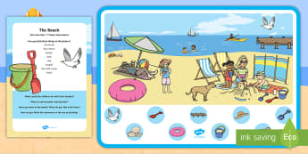 The Beach Can You Find...? Poster and Prompt Card Pack - beach, ocean, sea, can you find,ocean can you find, sea can you find,