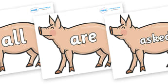 Tricky Words on Pig to Support Teaching on Pig in the Pond - Tricky words, DfES Letters and Sounds, Letters and sounds, display, words