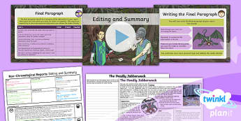 PlanIt Y5 Animals: Jabberwocky Lesson Pack Non-Chronological Reports (7)