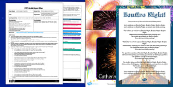 Bonfire Night Action Rhyme EYFS Adult Input Plan and Resource Pack