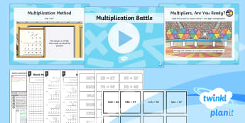 PlanIt Maths Y6 Addition, Subtraction, Multiplication and Division Lesson Pack Long Multiplication (2)