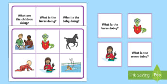 Present Continuous Questions Lotto Bingo - ESL Present Continuous Resources