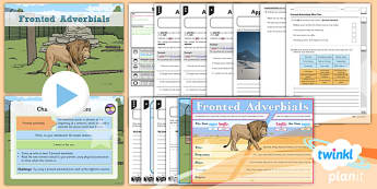PlanIt Y4 SPaG Lesson Pack: Fronted Adverbials - planit, spag, lesson pack, pack, fronted adverbials