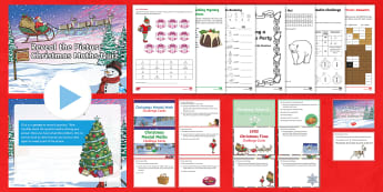 LKS2 Christmaths Activity Pack - chrismaths, christmas maths, festive, seasonal, fractions, fun maths, filler activities, addition, s