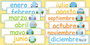 Months of the Year Display Banner Pack Spanish - spanish, months, year, months of the year, banner