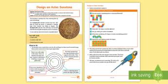 Design an Aztec Sunstone Activity - Aztec society, construction, Aztec religion, history, ancient civilisation, shrine, worship, skilled