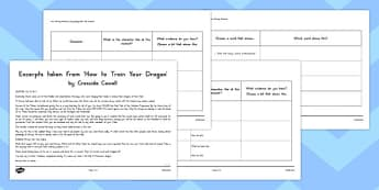 How to Train Your Dragon Inferences Worksheet / Activity Sheet - australia, worksheet
