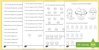 Counting in 2s, 5s and 10s Multiplication Worksheet / Activity Sheets - multiplication, worksheet / activity sheets, 2s, 5s, 10s, Worksheets