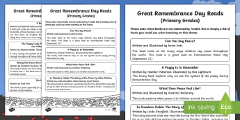 Great Remembrance Day Reads (Primary Grades) Book List -  Canada, Books, Primary, Grade 1, Grade 2, Grade 3, History, World War 1