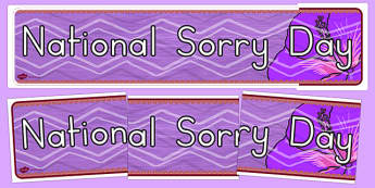 National Sorry Day Display Banner - display, banner, sorry day