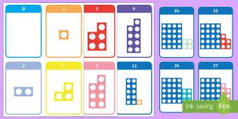 Number Shape Bonds to 30 Flashcards - Number bonds, number bonds, number bonds to 10, number shapes, numicon, Numicon