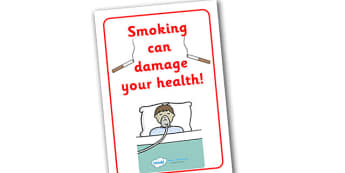 Smoking Damages Your Health Display Poster - smoking, health, smoking damages your health, do not smoke, effect, display, poster, sign