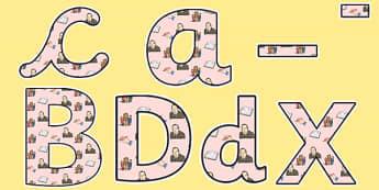 CS Lewis Themed Display Lettering - CS Lewis, display lettering, themed lettering, classroom lettering, lettering, letters for display, letters for display