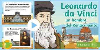 Presentación: Leonardo da Vinci - Renacimiento, Renaissance, inventor, inventions, científico, scientist, quinto curso primaria, 5º