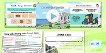 Computing: Using and Applying Skills: Scratch Castle Year 2 Lesson Pack 5