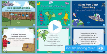 Pants Songs and Rhymes PowerPoints Pack - EYFS, Early Years, Aliens Love Underpants, Claire Freedman, space, aliens.