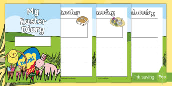 My Easter Holiday 7 Day Diary Worksheet / Activity Sheets  -  holiday, 7 day, diary, writing frame, easter, plans, booklet