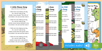 Addition Songs and Rhymes Resource Pack - Singing, Song time, adding, number, maths, mathematics,