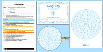 Snowflake Wheel EYFS Busy Bag Plan and Resource Pack - snowflake wheel, eyfs, busy bag